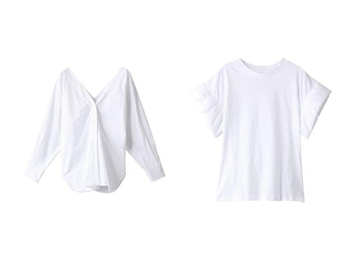 【TELA/テラ】のSAPONE コットンVラインシャツ&IMOLA デザインスリーブ コットンT 【トップス・カットソー】おすすめ!人気、トレンド・レディースファッションの通販  おすすめファッション通販アイテム インテリア・キッズ・メンズ・レディースファッション・服の通販 founy(ファニー) https://founy.com/ ファッション Fashion レディースファッション WOMEN トップス・カットソー Tops/Tshirt シャツ/ブラウス Shirts/Blouses ロング / Tシャツ T-Shirts カットソー Cut and Sewn 2021年 2021 2021春夏・S/S SS/Spring/Summer/2021 S/S・春夏 SS・Spring/Summer おすすめ Recommend カーディガン スリーブ ベーシック ロング 春 Spring 羽織 ショート シンプル |ID:crp329100000028280