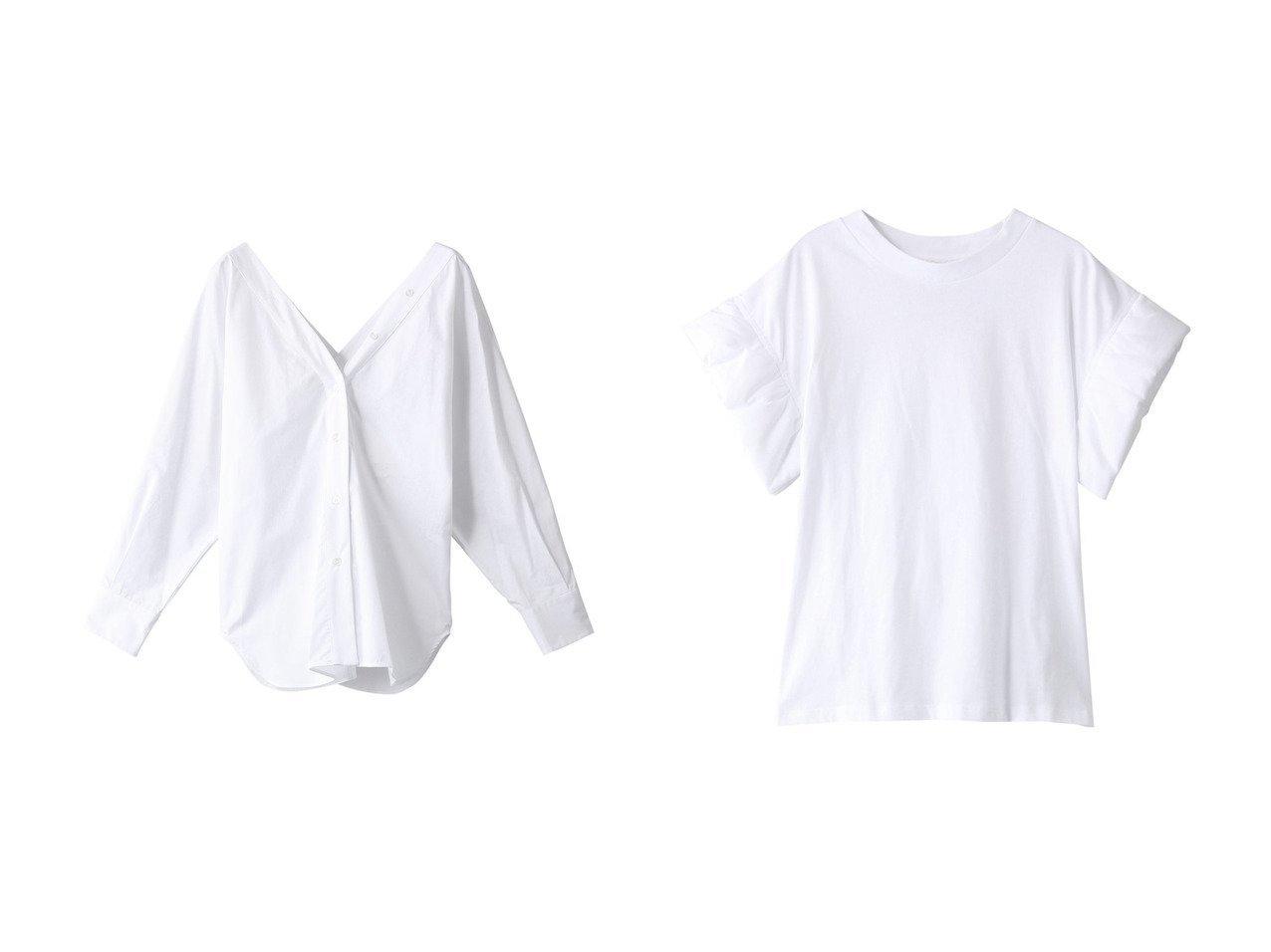 【TELA/テラ】のSAPONE コットンVラインシャツ&IMOLA デザインスリーブ コットンT 【トップス・カットソー】おすすめ!人気、トレンド・レディースファッションの通販  おすすめで人気の流行・トレンド、ファッションの通販商品 メンズファッション・キッズファッション・インテリア・家具・レディースファッション・服の通販 founy(ファニー) https://founy.com/ ファッション Fashion レディースファッション WOMEN トップス・カットソー Tops/Tshirt シャツ/ブラウス Shirts/Blouses ロング / Tシャツ T-Shirts カットソー Cut and Sewn 2021年 2021 2021春夏・S/S SS/Spring/Summer/2021 S/S・春夏 SS・Spring/Summer おすすめ Recommend カーディガン スリーブ ベーシック ロング 春 Spring 羽織 ショート シンプル |ID:crp329100000028280
