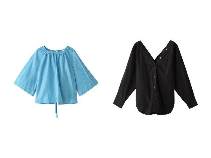【TELA/テラ】のSAPONE コットンVラインシャツ&UMILE バックオープンリボン リネンブラウス 【トップス・カットソー】おすすめ!人気、トレンド・レディースファッションの通販  おすすめファッション通販アイテム インテリア・キッズ・メンズ・レディースファッション・服の通販 founy(ファニー) https://founy.com/ ファッション Fashion レディースファッション WOMEN トップス・カットソー Tops/Tshirt シャツ/ブラウス Shirts/Blouses バッグ Bag 2021年 2021 2021春夏・S/S SS/Spring/Summer/2021 S/S・春夏 SS・Spring/Summer スリーブ フレア リネン リボン ロング 春 Spring おすすめ Recommend カーディガン ベーシック 羽織 |ID:crp329100000028282