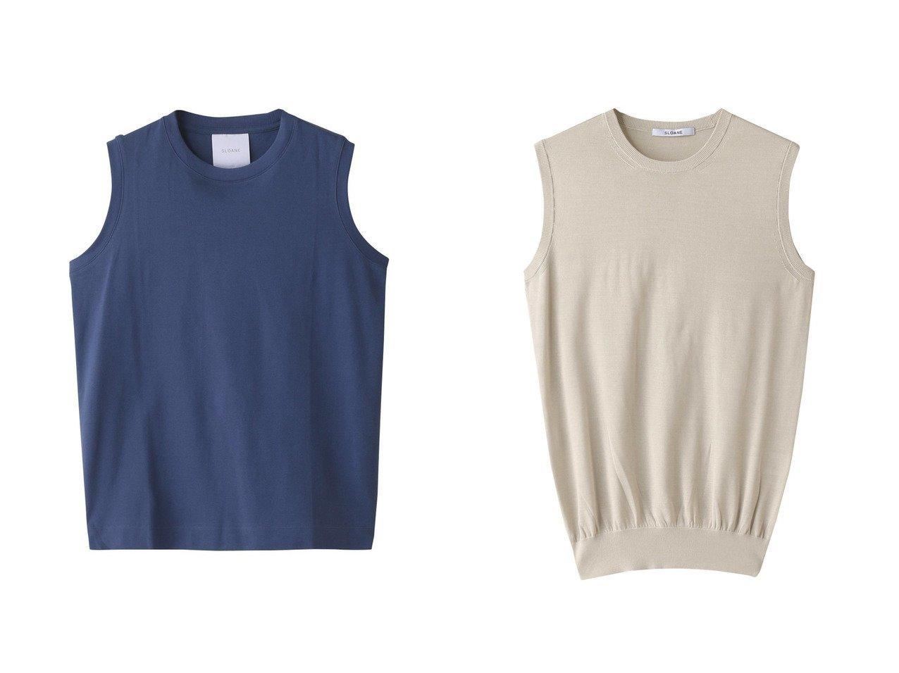 【SLOANE/スローン】の2コットン鹿の子ノースリーブ&18G シルク天竺ノースリーブ 【トップス・カットソー】おすすめ!人気、トレンド・レディースファッションの通販  おすすめで人気の流行・トレンド、ファッションの通販商品 メンズファッション・キッズファッション・インテリア・家具・レディースファッション・服の通販 founy(ファニー) https://founy.com/ ファッション Fashion レディースファッション WOMEN トップス・カットソー Tops/Tshirt キャミソール / ノースリーブ No Sleeves シャツ/ブラウス Shirts/Blouses ロング / Tシャツ T-Shirts カットソー Cut and Sewn ニット Knit Tops プルオーバー Pullover 2021年 2021 2021春夏・S/S SS/Spring/Summer/2021 S/S・春夏 SS・Spring/Summer キャミソール コンパクト サマー シンプル タンク トレンド ノースリーブ ボトム 春 Spring 鹿の子 シルク スリム フィット ベーシック |ID:crp329100000028284