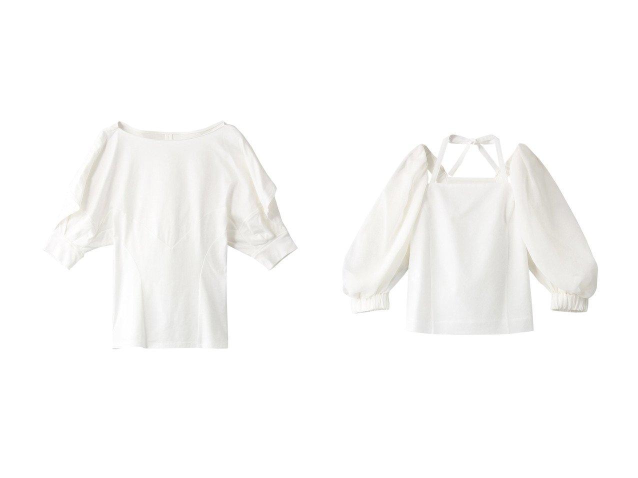【AKIRANAKA/アキラナカ】のドレープスリーブジャージプルオーバー&Cassandra スリーブプルオーバー 【トップス・カットソー】おすすめ!人気、トレンド・レディースファッションの通販  おすすめで人気の流行・トレンド、ファッションの通販商品 メンズファッション・キッズファッション・インテリア・家具・レディースファッション・服の通販 founy(ファニー) https://founy.com/ ファッション Fashion レディースファッション WOMEN トップス・カットソー Tops/Tshirt シャツ/ブラウス Shirts/Blouses ロング / Tシャツ T-Shirts プルオーバー Pullover カットソー Cut and Sewn 2021年 2021 2021春夏・S/S SS/Spring/Summer/2021 S/S・春夏 SS・Spring/Summer シェイプ ショート ストレッチ スリーブ ドレープ フェミニン 春 Spring  ID:crp329100000028290