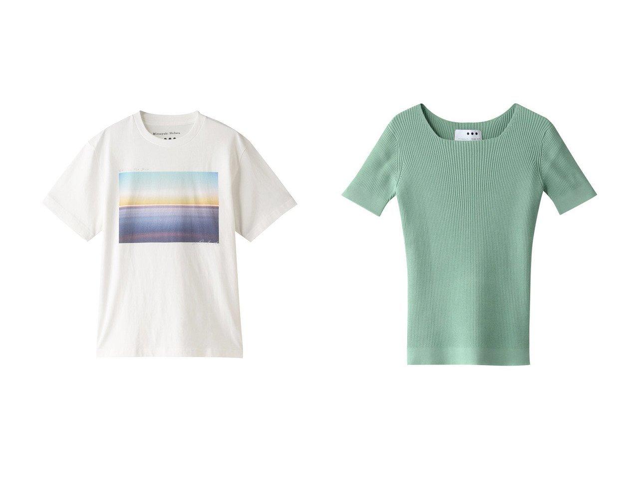【three dots/スリー ドッツ】のs crewneck Tシャツ&s rib top Tシャツ 【トップス・カットソー】おすすめ!人気、トレンド・レディースファッションの通販  おすすめで人気の流行・トレンド、ファッションの通販商品 メンズファッション・キッズファッション・インテリア・家具・レディースファッション・服の通販 founy(ファニー) https://founy.com/ ファッション Fashion レディースファッション WOMEN トップス・カットソー Tops/Tshirt シャツ/ブラウス Shirts/Blouses ロング / Tシャツ T-Shirts カットソー Cut and Sewn 2021年 2021 2021春夏・S/S SS/Spring/Summer/2021 S/S・春夏 SS・Spring/Summer グラフィック ショート スリーブ プリント リラックス 春 Spring  ID:crp329100000028292
