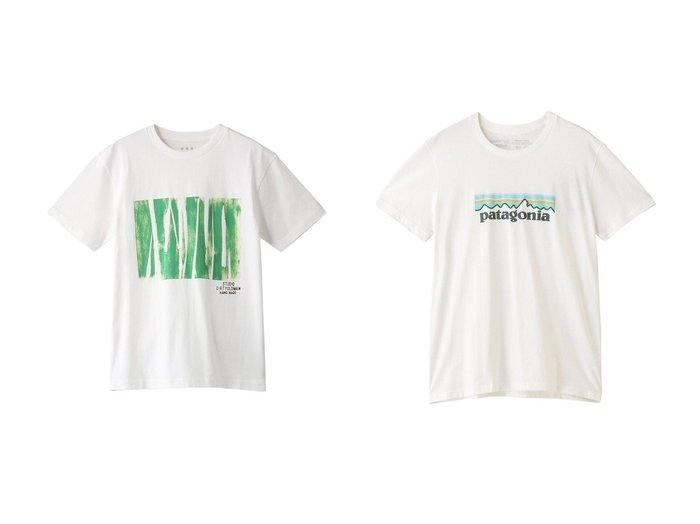 【three dots/スリー ドッツ】のs crewneck Tシャツ&【Patagonia/パタゴニア】のW s パステル P-6 ロゴオーガニッククルーTシャツ 【トップス・カットソー】おすすめ!人気、トレンド・レディースファッションの通販  おすすめファッション通販アイテム レディースファッション・服の通販 founy(ファニー) ファッション Fashion レディースファッション WOMEN トップス・カットソー Tops/Tshirt シャツ/ブラウス Shirts/Blouses ロング / Tシャツ T-Shirts カットソー Cut and Sewn スポーツウェア Sportswear スポーツ トップス Tops 2021年 2021 2021春夏・S/S SS/Spring/Summer/2021 S/S・春夏 SS・Spring/Summer グラフィック ショート スリーブ プリント 半袖 春 Spring |ID:crp329100000028298