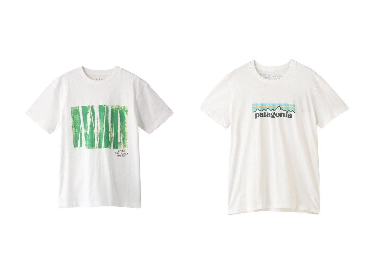 【three dots/スリー ドッツ】のs crewneck Tシャツ&【Patagonia/パタゴニア】のW s パステル P-6 ロゴオーガニッククルーTシャツ 【トップス・カットソー】おすすめ!人気、トレンド・レディースファッションの通販  おすすめで人気の流行・トレンド、ファッションの通販商品 メンズファッション・キッズファッション・インテリア・家具・レディースファッション・服の通販 founy(ファニー) https://founy.com/ ファッション Fashion レディースファッション WOMEN トップス・カットソー Tops/Tshirt シャツ/ブラウス Shirts/Blouses ロング / Tシャツ T-Shirts カットソー Cut and Sewn スポーツウェア Sportswear スポーツ トップス Tops 2021年 2021 2021春夏・S/S SS/Spring/Summer/2021 S/S・春夏 SS・Spring/Summer グラフィック ショート スリーブ プリント 半袖 春 Spring  ID:crp329100000028298