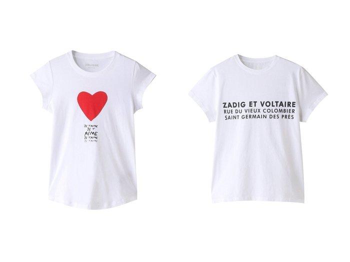 【ZADIG & VOLTAIRE/ザディグ エ ヴォルテール】のZOE ZV ADDRESS T-SHIRT ORGANIC COTON PRINT Tシャツ&SKINNY JE T AIME T-SHIRT COTON INTERLOCK Tシャツ 【トップス・カットソー】おすすめ!人気、トレンド・レディースファッションの通販  おすすめファッション通販アイテム レディースファッション・服の通販 founy(ファニー) ファッション Fashion レディースファッション WOMEN トップス・カットソー Tops/Tshirt シャツ/ブラウス Shirts/Blouses ロング / Tシャツ T-Shirts カットソー Cut and Sewn ワンピース Dress ドレス Party Dresses 2021年 2021 2021春夏・S/S SS/Spring/Summer/2021 S/S・春夏 SS・Spring/Summer おすすめ Recommend ショート スリーブ フロント プリント 春 Spring  ID:crp329100000028305
