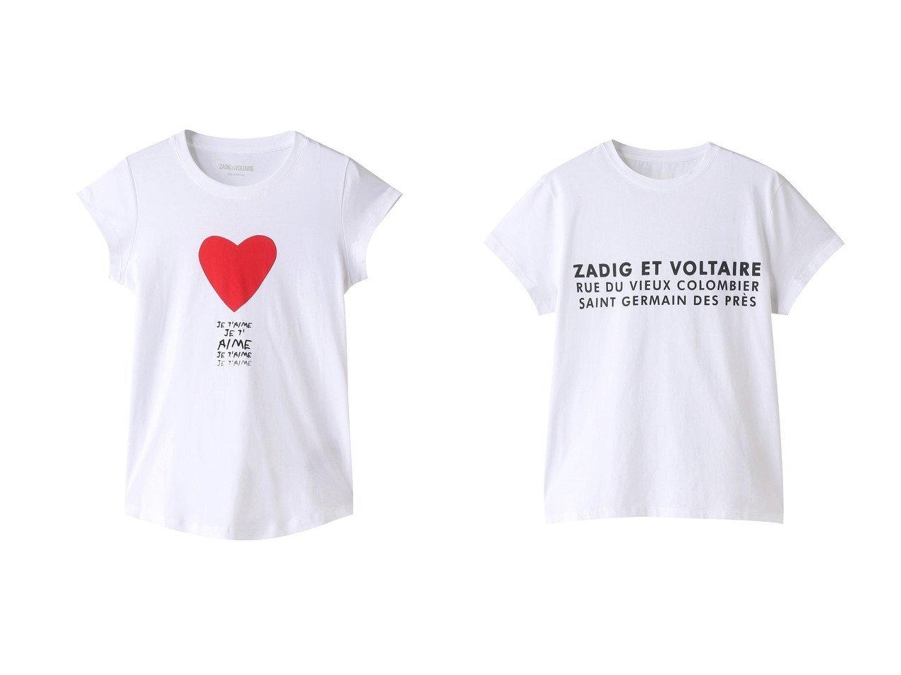 【ZADIG & VOLTAIRE/ザディグ エ ヴォルテール】のZOE ZV ADDRESS T-SHIRT ORGANIC COTON PRINT Tシャツ&SKINNY JE T AIME T-SHIRT COTON INTERLOCK Tシャツ 【トップス・カットソー】おすすめ!人気、トレンド・レディースファッションの通販  おすすめで人気の流行・トレンド、ファッションの通販商品 メンズファッション・キッズファッション・インテリア・家具・レディースファッション・服の通販 founy(ファニー) https://founy.com/ ファッション Fashion レディースファッション WOMEN トップス・カットソー Tops/Tshirt シャツ/ブラウス Shirts/Blouses ロング / Tシャツ T-Shirts カットソー Cut and Sewn ワンピース Dress ドレス Party Dresses 2021年 2021 2021春夏・S/S SS/Spring/Summer/2021 S/S・春夏 SS・Spring/Summer おすすめ Recommend ショート スリーブ フロント プリント 春 Spring |ID:crp329100000028305