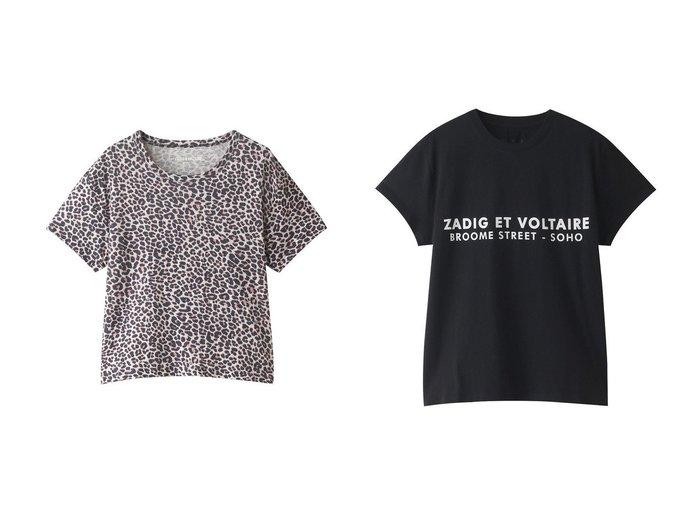 【ZADIG & VOLTAIRE/ザディグ エ ヴォルテール】のZOE ZV ADDRESS T-SHIRT ORGANIC COTON PRINT Tシャツ&MARTA AO LEOPARD DEBARDEUR LIN PRINT ALL OVER Tシャツ 【トップス・カットソー】おすすめ!人気、トレンド・レディースファッションの通販  おすすめファッション通販アイテム レディースファッション・服の通販 founy(ファニー) ファッション Fashion レディースファッション WOMEN トップス・カットソー Tops/Tshirt シャツ/ブラウス Shirts/Blouses ロング / Tシャツ T-Shirts カットソー Cut and Sewn ワンピース Dress ドレス Party Dresses 2021年 2021 2021春夏・S/S SS/Spring/Summer/2021 S/S・春夏 SS・Spring/Summer コンパクト ショート スリーブ リネン レオパード 春 Spring  ID:crp329100000028308