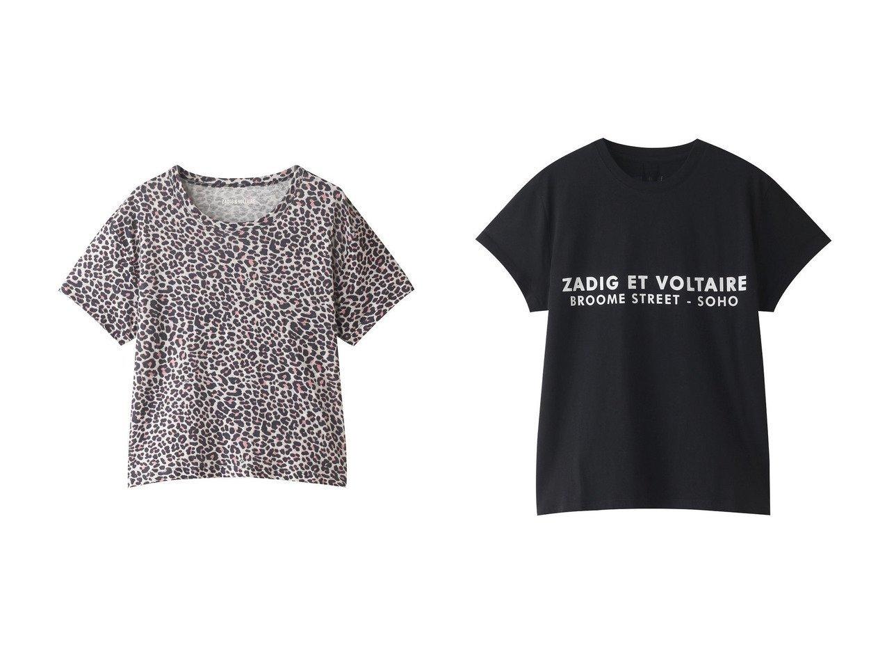 【ZADIG & VOLTAIRE/ザディグ エ ヴォルテール】のZOE ZV ADDRESS T-SHIRT ORGANIC COTON PRINT Tシャツ&MARTA AO LEOPARD DEBARDEUR LIN PRINT ALL OVER Tシャツ 【トップス・カットソー】おすすめ!人気、トレンド・レディースファッションの通販  おすすめで人気の流行・トレンド、ファッションの通販商品 メンズファッション・キッズファッション・インテリア・家具・レディースファッション・服の通販 founy(ファニー) https://founy.com/ ファッション Fashion レディースファッション WOMEN トップス・カットソー Tops/Tshirt シャツ/ブラウス Shirts/Blouses ロング / Tシャツ T-Shirts カットソー Cut and Sewn ワンピース Dress ドレス Party Dresses 2021年 2021 2021春夏・S/S SS/Spring/Summer/2021 S/S・春夏 SS・Spring/Summer コンパクト ショート スリーブ リネン レオパード 春 Spring |ID:crp329100000028308