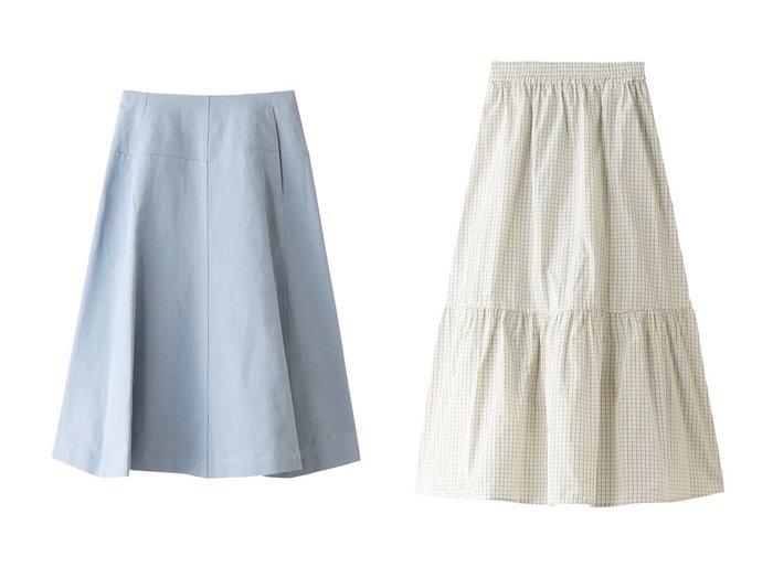 【TELA/テラ】のKARA コットンリネンフレアスカート&FIRMA チェックティアードスカート 【スカート】おすすめ!人気、トレンド・レディースファッションの通販 おすすめファッション通販アイテム レディースファッション・服の通販 founy(ファニー) ファッション Fashion レディースファッション WOMEN スカート Skirt Aライン/フレアスカート Flared A-Line Skirts ティアードスカート Tiered Skirts ロングスカート Long Skirt 2021年 2021 2021春夏・S/S SS/Spring/Summer/2021 S/S・春夏 SS・Spring/Summer おすすめ Recommend シンプル セットアップ フレア リネン 春 Spring |ID:crp329100000028342