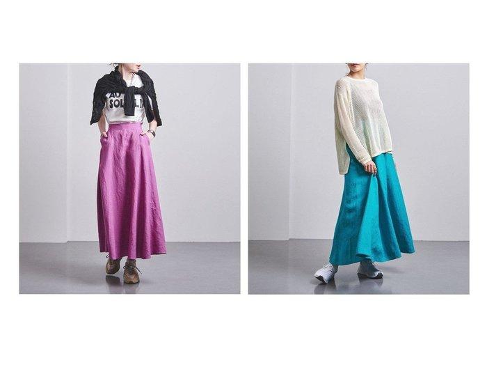 【UNITED ARROWS/ユナイテッドアローズ】のUWCC LINEN マキシ スカート† 【スカート】おすすめ!人気、トレンド・レディースファッションの通販 おすすめファッション通販アイテム インテリア・キッズ・メンズ・レディースファッション・服の通販 founy(ファニー) https://founy.com/ ファッション Fashion レディースファッション WOMEN スカート Skirt Aライン/フレアスカート Flared A-Line Skirts NEW・新作・新着・新入荷 New Arrivals ギャザー バランス フレア ポケット マキシ リネン |ID:crp329100000028347