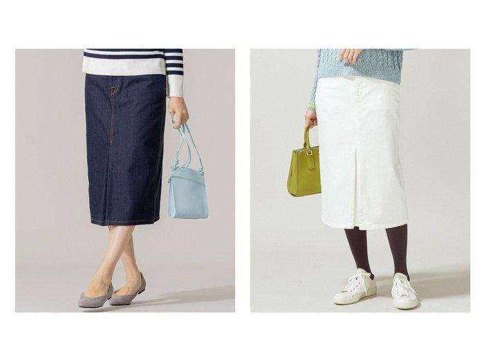 【KUMIKYOKU/組曲】の【洗える】AQUATIC DENIM デニムスカート 【スカート】おすすめ!人気、トレンド・レディースファッションの通販 おすすめファッション通販アイテム インテリア・キッズ・メンズ・レディースファッション・服の通販 founy(ファニー) https://founy.com/ ファッション Fashion レディースファッション WOMEN スカート Skirt デニムスカート Denim Skirts 2021年 2021 2021春夏・S/S SS/Spring/Summer/2021 S/S・春夏 SS・Spring/Summer スニーカー デニム フロント ボーダー 洗える |ID:crp329100000028352