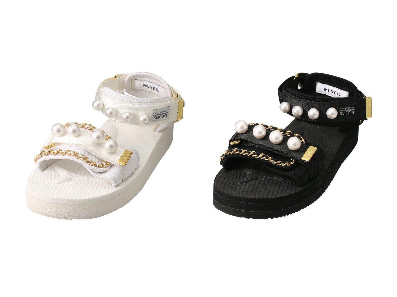 【MUVEIL/ミュベール】のSUICOKE コラボサンダル 【シューズ・靴】おすすめ!人気、トレンド・レディースファッションの通販 おすすめで人気の流行・トレンド、ファッションの通販商品 メンズファッション・キッズファッション・インテリア・家具・レディースファッション・服の通販 founy(ファニー) https://founy.com/ ファッション Fashion レディースファッション WOMEN 2021年 2021 2021春夏・S/S SS/Spring/Summer/2021 S/S・春夏 SS・Spring/Summer おすすめ Recommend コラボ サンダル チェーン パール 春 Spring  ID:crp329100000028384