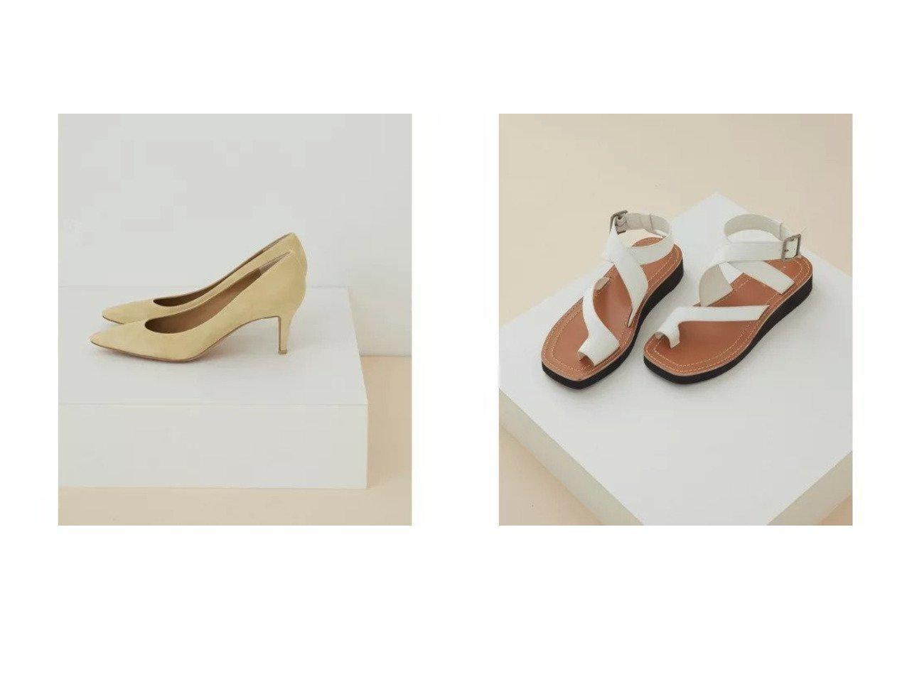 【ADAM ET ROPE'/アダム エ ロペ】のレザーポインテッドパンプス&アシンメトングベルテッドサンダル 【シューズ・靴】おすすめ!人気、トレンド・レディースファッションの通販 おすすめで人気の流行・トレンド、ファッションの通販商品 メンズファッション・キッズファッション・インテリア・家具・レディースファッション・服の通販 founy(ファニー) https://founy.com/ ファッション Fashion レディースファッション WOMEN 厚底 春 Spring サンダル シューズ スラックス ワイド 2021年 2021 S/S・春夏 SS・Spring/Summer 2021春夏・S/S SS/Spring/Summer/2021 おすすめ Recommend |ID:crp329100000028392