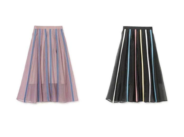 【AKIRANAKA/アキラナカ】のDoloress flare skirt 【スカート】おすすめ!人気、トレンド・レディースファッションの通販 おすすめファッション通販アイテム インテリア・キッズ・メンズ・レディースファッション・服の通販 founy(ファニー) https://founy.com/ ファッション Fashion レディースファッション WOMEN スカート Skirt 2021年 2021 2021春夏・S/S SS/Spring/Summer/2021 S/S・春夏 SS・Spring/Summer シフォン ストライプ フェミニン マキシ ロング |ID:crp329100000028449