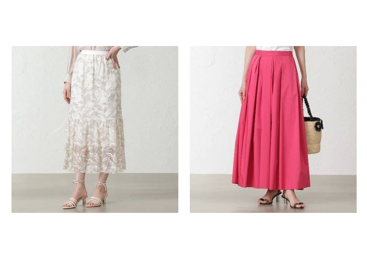 【EPOCA THE SHOP/エポカ ザ ショップ】の【SACRA】エンブロイダリーレーススカート&【FLICKA】カラーロングスカート 【スカート】おすすめ!人気、トレンド・レディースファッションの通販 おすすめで人気の流行・トレンド、ファッションの通販商品 メンズファッション・キッズファッション・インテリア・家具・レディースファッション・服の通販 founy(ファニー) https://founy.com/ ファッション Fashion レディースファッション WOMEN スカート Skirt ロングスカート Long Skirt ティアードスカート マキシ リーフ ロング おすすめ Recommend エレガント シンプル ドレス フェミニン フォルム 春 Spring |ID:crp329100000028452