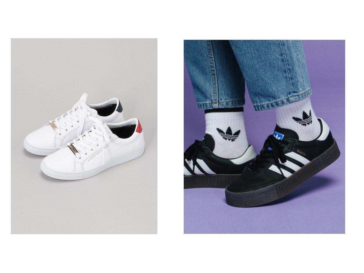 【adidas Originals/アディダス オリジナルス】のSAMBAROSE W&【TOMMY HILFIGER/トミーヒルフィガー】のTOMMY HILFIGER(トミーヒルフィガー) アイコンレザースニーカー 【シューズ・靴】おすすめ!人気、トレンド・レディースファッションの通販 おすすめで人気の流行・トレンド、ファッションの通販商品 メンズファッション・キッズファッション・インテリア・家具・レディースファッション・服の通販 founy(ファニー) https://founy.com/ ファッション Fashion レディースファッション WOMEN シューズ スニーカー スポーツ スリッポン クラシック サッカー スタイリッシュ パフォーマンス フィット ライニング レギュラー 厚底 |ID:crp329100000028477
