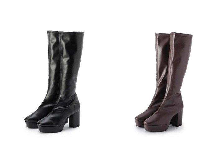 【ESPERANZA/エスペランサ】のミドルプラットフォームロングブーツ 【シューズ・靴】おすすめ!人気、トレンド・レディースファッションの通販 おすすめ人気トレンドファッション通販アイテム 人気、トレンドファッション・服の通販 founy(ファニー) ファッション Fashion レディースファッション WOMEN シューズ ショート ロング  ID:crp329100000028485