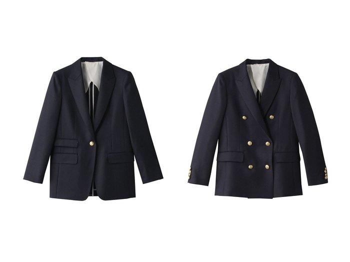 【ANAYI/アナイ】のウールオックスダブルジャケット&ウールオックスピークドジャケット 【アウター】おすすめ!人気、トレンド・レディースファッションの通販 おすすめファッション通販アイテム レディースファッション・服の通販 founy(ファニー) ファッション Fashion レディースファッション WOMEN アウター Coat Outerwear ジャケット Jackets 2021年 2021 2021春夏・S/S SS/Spring/Summer/2021 S/S・春夏 SS・Spring/Summer オケージョン シンプル ジャケット 春 Spring |ID:crp329100000028557