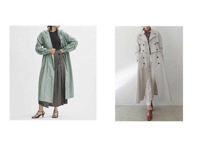【AMBIENT/アンビエント】のセパレートトレンチコート&【Mila Owen/ミラオーウェン】のウエスト絞りユーティリティーロングコート 【アウター】おすすめ!人気、トレンド・レディースファッションの通販 おすすめファッション通販アイテム レディースファッション・服の通販 founy(ファニー) ファッション Fashion レディースファッション WOMEN アウター Coat Outerwear コート Coats トレンチコート Trench Coats ウォッシャブル 春 Spring スマート スリット スリーブ ロング 冬 Winter おすすめ Recommend エレガント ショート スタンダード セパレート 定番 Standard バランス フィット フレア ヨーク ワーク NEW・新作・新着・新入荷 New Arrivals |ID:crp329100000028565