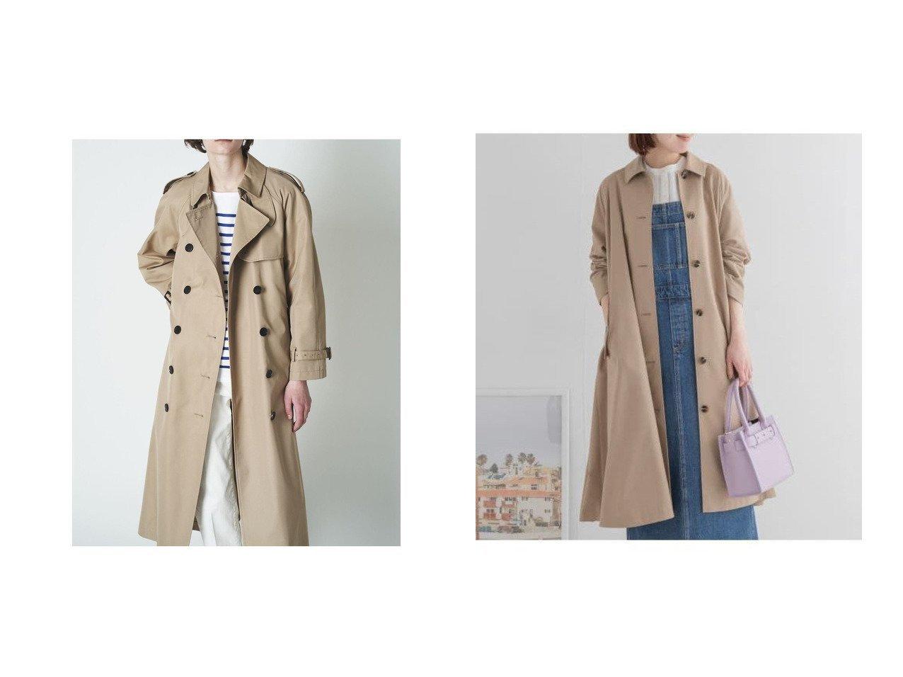 【Sonny Label / URBAN RESEARCH/サニーレーベル】のステンカラービッグコート&【N.O.R.C/ノーク】のロングトレンチコート 【アウター】おすすめ!人気、トレンド・レディースファッションの通販 おすすめで人気の流行・トレンド、ファッションの通販商品 メンズファッション・キッズファッション・インテリア・家具・レディースファッション・服の通販 founy(ファニー) https://founy.com/ ファッション Fashion レディースファッション WOMEN アウター Coat Outerwear コート Coats トレンチコート Trench Coats NEW・新作・新着・新入荷 New Arrivals インナー ロング 定番 Standard ポケット |ID:crp329100000028568