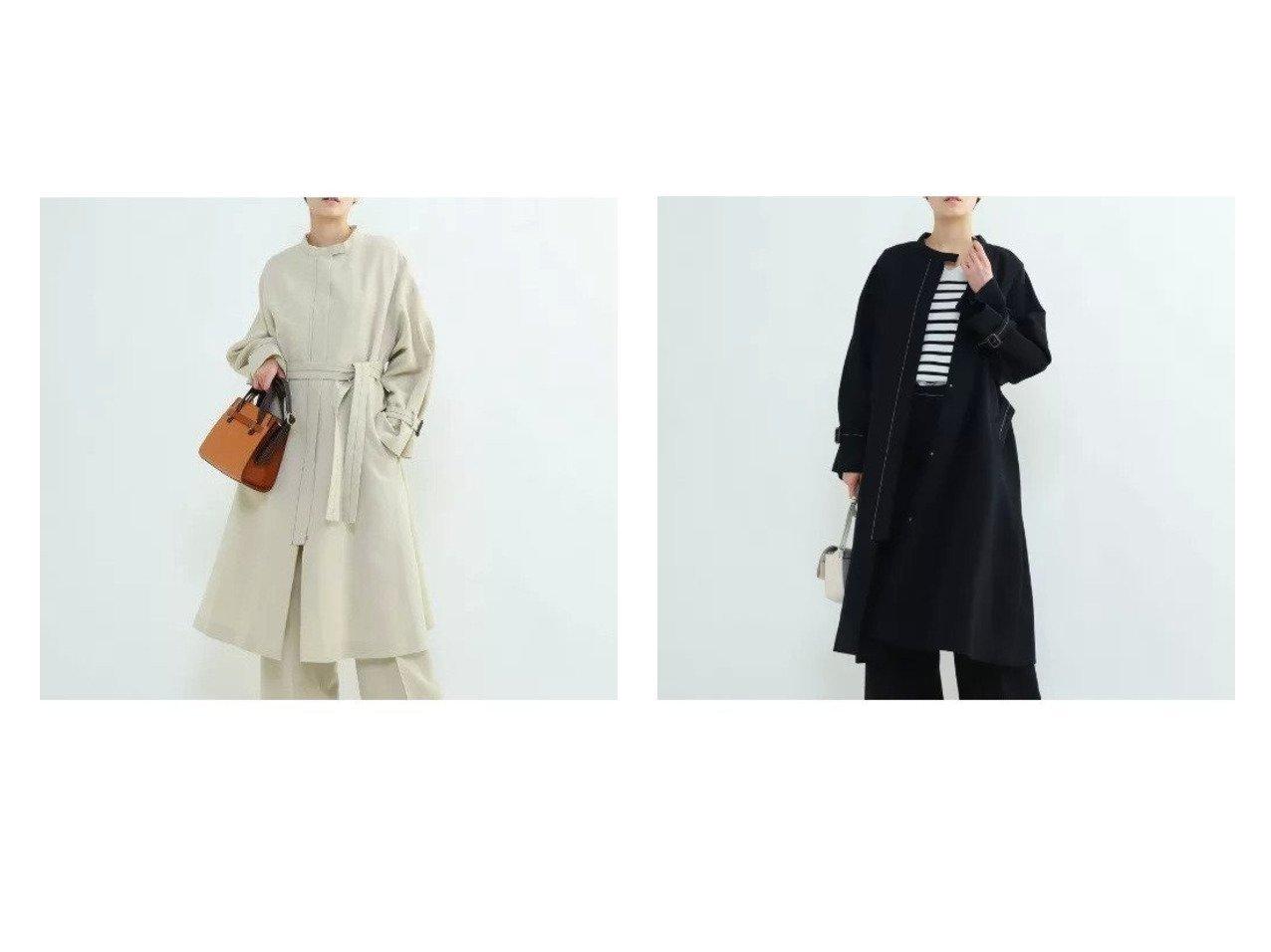 【INDIVI V.A.I/インディヴィ バイ】のグランリネンツイルコート 【アウター】おすすめ!人気、トレンド・レディースファッションの通販 おすすめで人気の流行・トレンド、ファッションの通販商品 メンズファッション・キッズファッション・インテリア・家具・レディースファッション・服の通販 founy(ファニー) https://founy.com/ ファッション Fashion レディースファッション WOMEN アウター Coat Outerwear コート Coats シンプル フォルム リネン ワーク |ID:crp329100000028572