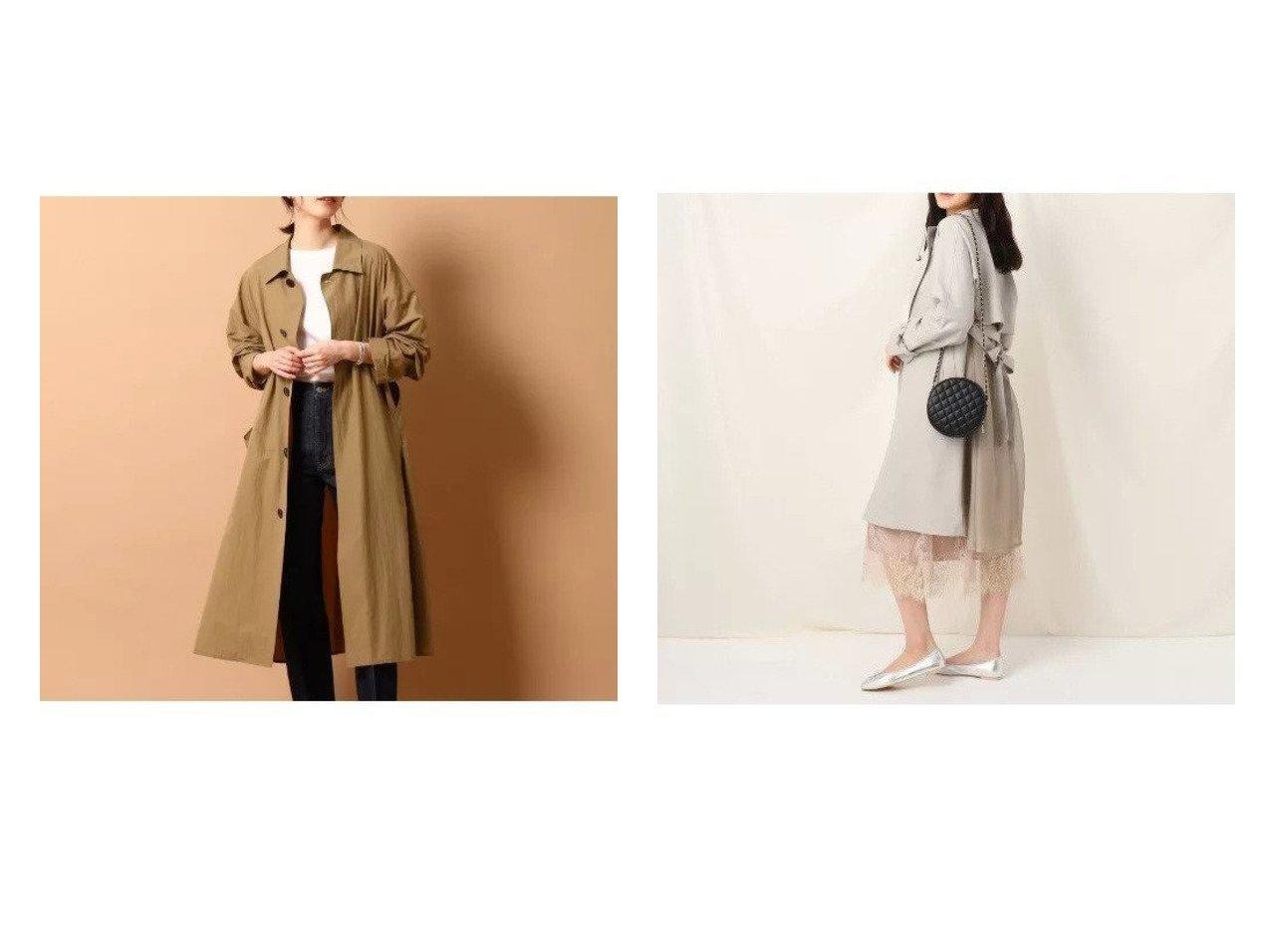 【DRESSTERIOR/ドレステリア】のTICCA(ティッカ)ライトコート&【Couture Brooch/クチュール ブローチ】のオーガンジーバックフレアコート 【アウター】おすすめ!人気、トレンド・レディースファッションの通販 おすすめで人気の流行・トレンド、ファッションの通販商品 メンズファッション・キッズファッション・インテリア・家具・レディースファッション・服の通販 founy(ファニー) https://founy.com/ ファッション Fashion レディースファッション WOMEN アウター Coat Outerwear コート Coats トレンチコート Trench Coats S/S・春夏 SS・Spring/Summer インナー カットソー コレクション ダウン ノースリーブ ベーシック ポケット ワーク 定番 Standard 春 Spring なめらか オーガンジー シアー 羽織 |ID:crp329100000028574