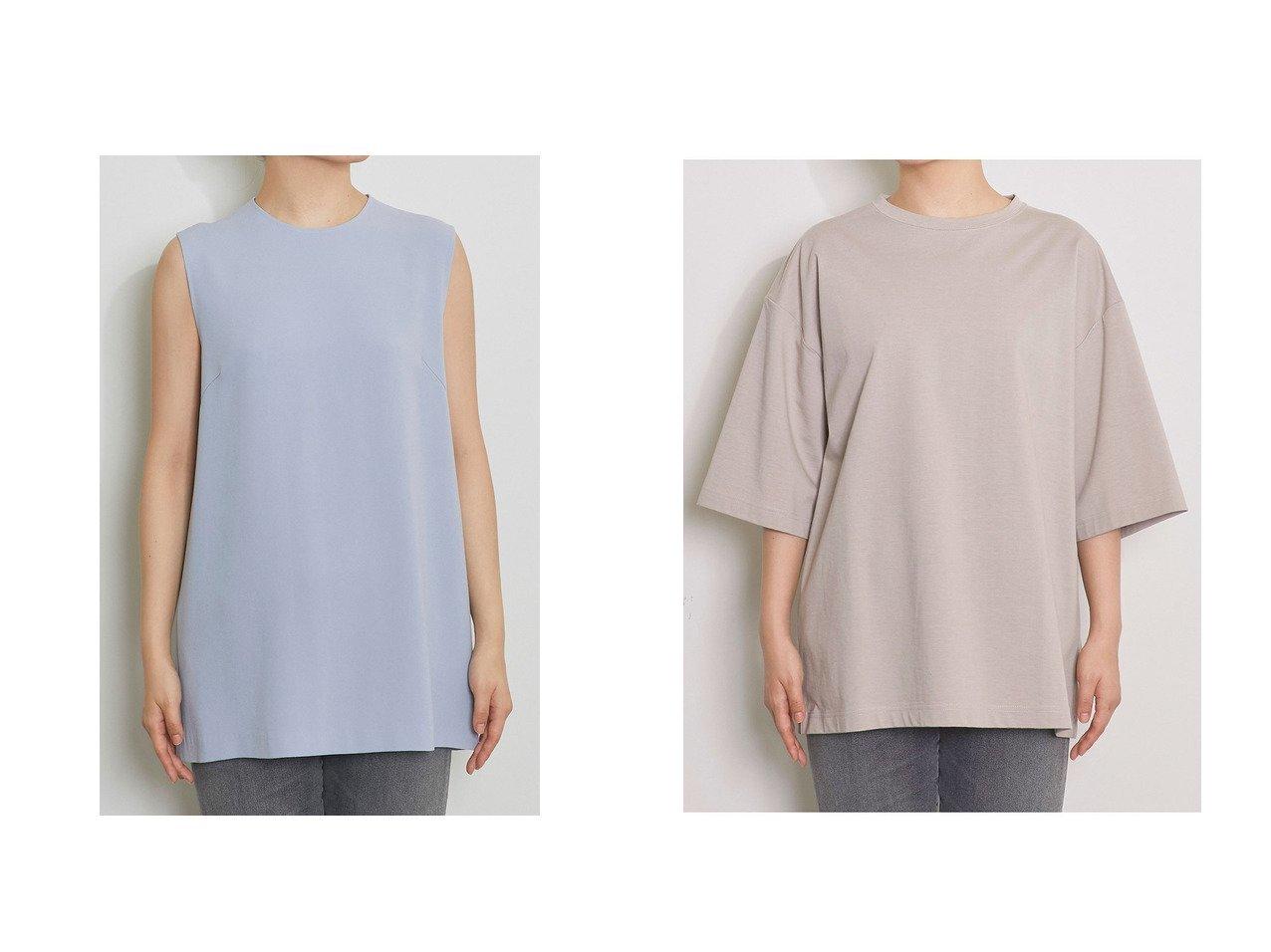 【Whim Gazette/ウィムガゼット】のACE ノースリーブブラウス&オーガニックコットンビッグTシャツ 【トップス・カットソー】おすすめ!人気、トレンド・レディースファッションの通販 おすすめで人気の流行・トレンド、ファッションの通販商品 メンズファッション・キッズファッション・インテリア・家具・レディースファッション・服の通販 founy(ファニー) https://founy.com/ ファッション Fashion レディースファッション WOMEN トップス・カットソー Tops/Tshirt キャミソール / ノースリーブ No Sleeves シャツ/ブラウス Shirts/Blouses ロング / Tシャツ T-Shirts カットソー Cut and Sewn 2021年 2021 2021春夏・S/S SS/Spring/Summer/2021 S/S・春夏 SS・Spring/Summer おすすめ Recommend コンパクト シンプル スリット セットアップ ノースリーブ 春 Spring |ID:crp329100000028637