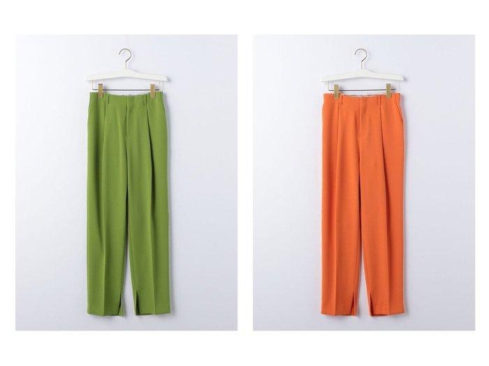 【green label relaxing / UNITED ARROWS/グリーンレーベル リラクシング / ユナイテッドアローズ】の『BRACTMENT(ブラクトメント)』 BM 裾スリット プレスト タックパンツ 【パンツ】おすすめ!人気、トレンド・レディースファッションの通販 おすすめファッション通販アイテム レディースファッション・服の通販 founy(ファニー) ファッション Fashion レディースファッション WOMEN パンツ Pants オレンジ ジョーゼット ジーンズ スラックス スリット とろみ ツイル 定番 Standard なめらか ネップ ベーシック リネン 2021年 2021 S/S・春夏 SS・Spring/Summer 2021春夏・S/S SS/Spring/Summer/2021 |ID:crp329100000028648