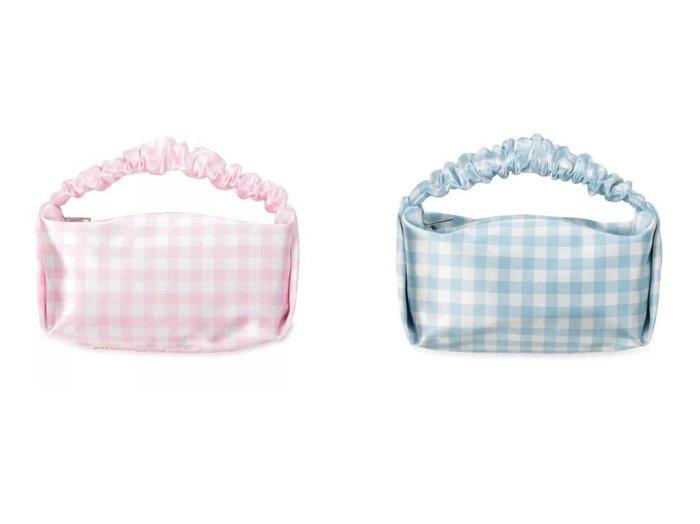【ALEXANDER WANG/アレキサンダーワン】のSCRUNCHIE MINI BAG&SCRUNCHIE MINI BAG 【バッグ・鞄】おすすめ!人気、トレンド・レディースファッションの通販 おすすめファッション通販アイテム レディースファッション・服の通販 founy(ファニー) ファッション Fashion レディースファッション WOMEN バッグ Bag 2021年 2021 2021春夏・S/S SS/Spring/Summer/2021 S/S・春夏 SS・Spring/Summer ガーリー ギャザー ギンガム クラシカル チェック ハンドバッグ フォルム |ID:crp329100000028684