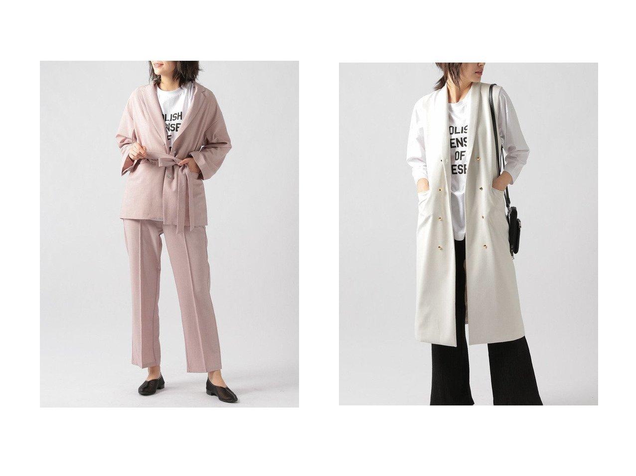 【Ezick/エジック】のダブルロングベスト&TRリネンジャケット 【アウター】おすすめ!人気、トレンド・レディースファッションの通販 おすすめで人気の流行・トレンド、ファッションの通販商品 メンズファッション・キッズファッション・インテリア・家具・レディースファッション・服の通販 founy(ファニー) https://founy.com/ ファッション Fashion レディースファッション WOMEN アウター Coat Outerwear ジャケット Jackets 2021年 2021 2021春夏・S/S SS/Spring/Summer/2021 S/S・春夏 SS・Spring/Summer ショール ジャケット ベスト 春 Spring  ID:crp329100000028702