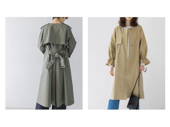 【URBAN RESEARCH/アーバンリサーチ】のDessin de Mode ノーカラートレンチコート&【MAYSON GREY/メイソングレイ】の【socolla】ボリュームスリーブコート 【アウター】おすすめ!人気、トレンド・レディースファッションの通販 おすすめファッション通販アイテム レディースファッション・服の通販 founy(ファニー) ファッション Fashion レディースファッション WOMEN アウター Coat Outerwear コート Coats ジャケット Jackets ダッフルコート Duffle Coats トレンチコート Trench Coats ジャケット ダッフルコート トレンド ベーシック 洗える コレクション ポケット |ID:crp329100000028711