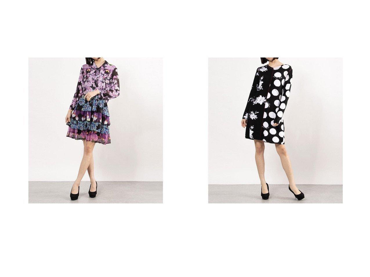 【Desigual/デシグアル】のワンピース長袖 OLIMPIA&ワンピース長袖 MIXRAS 【ワンピース・ドレス】おすすめ!人気、トレンド・レディースファッションの通販 おすすめ人気トレンドファッション通販アイテム インテリア・キッズ・メンズ・レディースファッション・服の通販 founy(ファニー)  ファッション Fashion レディースファッション WOMEN ワンピース Dress 2021年 2021 2021春夏・S/S SS/Spring/Summer/2021 S/S・春夏 SS・Spring/Summer 春 Spring 長袖 ブラック系 Black |ID:crp329100000028758
