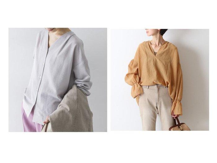 【FRAMeWORK/フレームワーク】のシアーヌーベルギャザースリーブブラウス&【URBAN RESEARCH/アーバンリサーチ】のVネックタックシャツ 【トップス・カットソー】おすすめ!人気、トレンド・レディースファッションの通販 おすすめファッション通販アイテム レディースファッション・服の通販 founy(ファニー) ファッション Fashion レディースファッション WOMEN トップス・カットソー Tops/Tshirt シャツ/ブラウス Shirts/Blouses Vネック V-Neck 2021年 2021 2021春夏・S/S SS/Spring/Summer/2021 S/S・春夏 SS・Spring/Summer おすすめ Recommend エアリー ギャザー シアー スリット フロント 再入荷 Restock/Back in Stock/Re Arrival 春 Spring ヴィンテージ ジャケット スラックス デニム 定番 Standard 人気 フォーマル フレア ベーシック ポケット NEW・新作・新着・新入荷 New Arrivals |ID:crp329100000028773