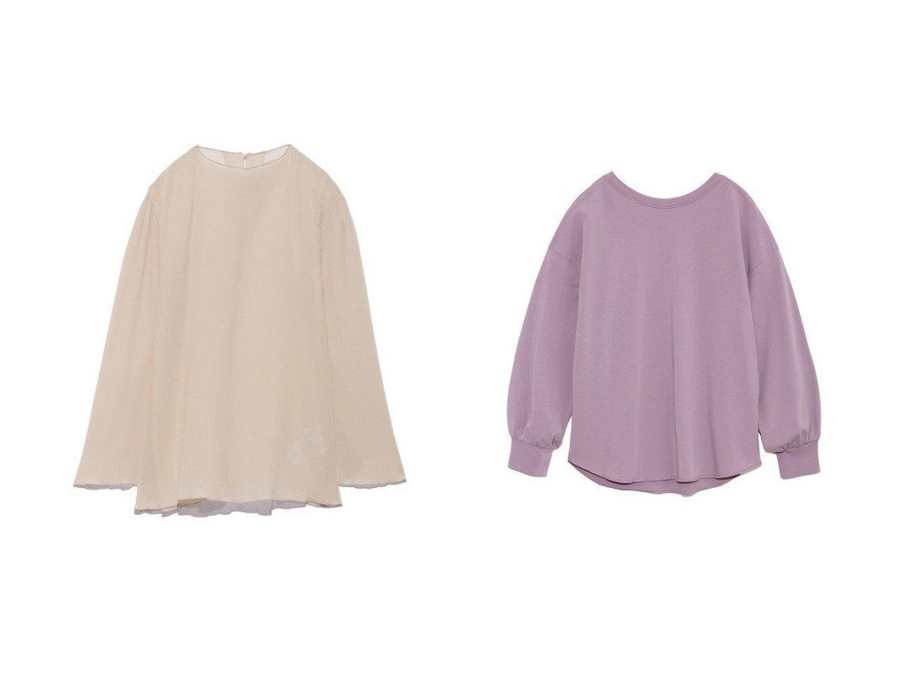 【Mila Owen/ミラオーウェン】のSET UP背中あきロングシャツ&【SNIDEL/スナイデル】のプリーツシアーブラウス 【トップス・カットソー】おすすめ!人気、トレンド・レディースファッションの通販 おすすめで人気の流行・トレンド、ファッションの通販商品 メンズファッション・キッズファッション・インテリア・家具・レディースファッション・服の通販 founy(ファニー) https://founy.com/ ファッション Fashion レディースファッション WOMEN トップス・カットソー Tops/Tshirt シャツ/ブラウス Shirts/Blouses ロング / Tシャツ T-Shirts カットソー Cut and Sewn インナー キャミソール キャミワンピース スマート ドット プリント プリーツ 再入荷 Restock/Back in Stock/Re Arrival おすすめ Recommend ウォッシャブル カットソー シンプル パープル ロング ワーク |ID:crp329100000028775