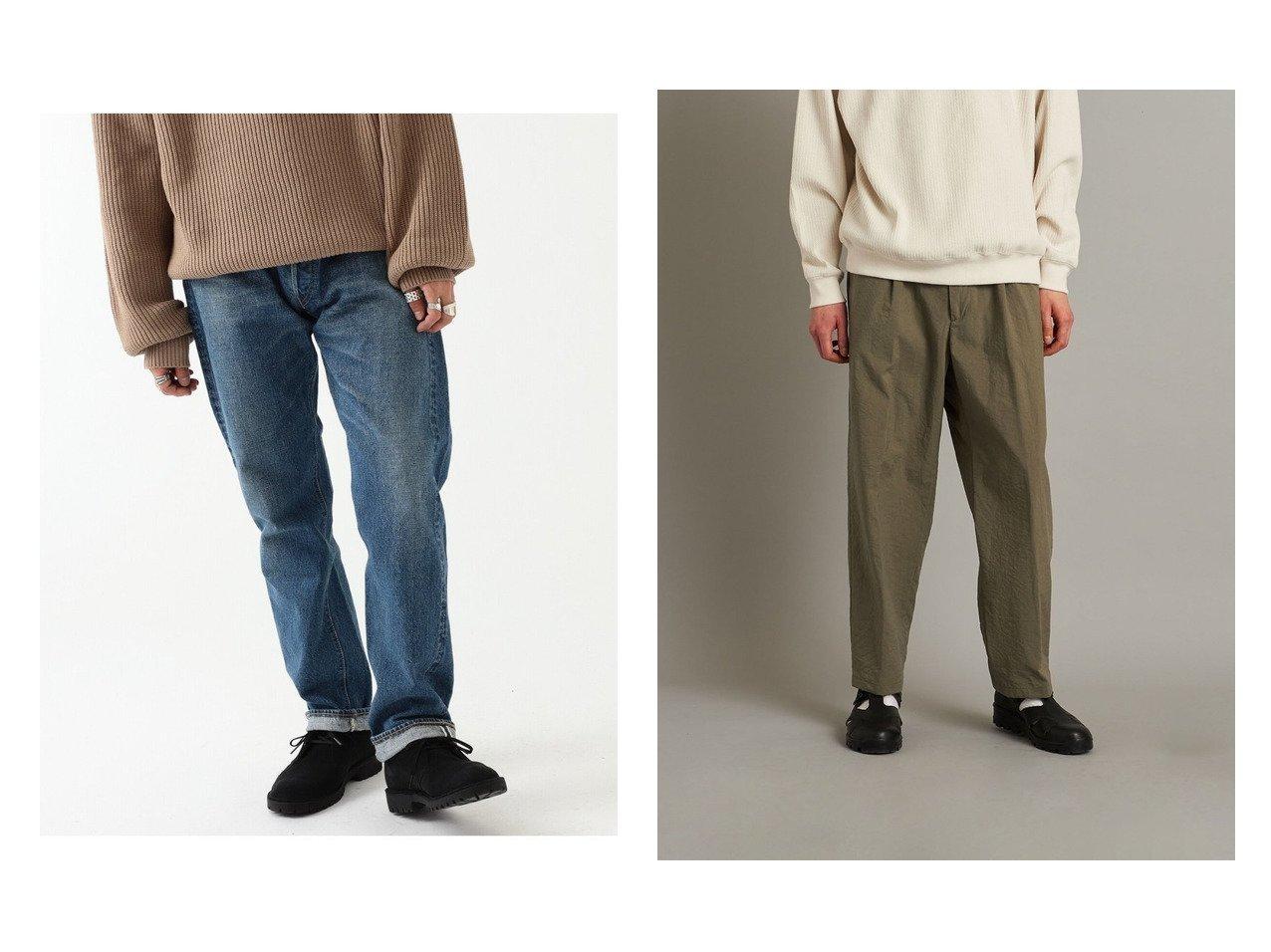 【BEAMS / MEN/ビームス】のスタンダード ユーズド デニム&【steven alan / MEN/スティーブンアラン】のパンツ 【MEN】おすすめ!人気トレンド・男性、メンズファッションの通販 おすすめで人気の流行・トレンド、ファッションの通販商品 メンズファッション・キッズファッション・インテリア・家具・レディースファッション・服の通販 founy(ファニー) https://founy.com/ ファッション Fashion メンズファッション MEN ボトムス Bottoms/Men S/S・春夏 SS・Spring/Summer おすすめ Recommend ジーンズ テーパード 春 Spring |ID:crp329100000028979