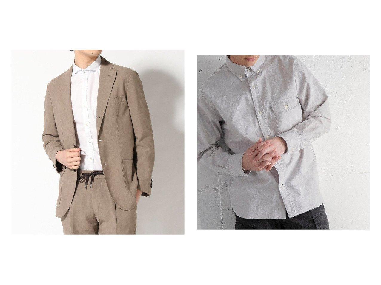 【COEN / MEN/コーエン メン】のテキサスコットンオックスフォードボタンダウンシャツ&【GLOBAL WORK / MEN/グローバルワーク】のSGW-J301 H-リネン 【MEN】おすすめ!人気トレンド・男性、メンズファッションの通販 おすすめで人気の流行・トレンド、ファッションの通販商品 メンズファッション・キッズファッション・インテリア・家具・レディースファッション・服の通販 founy(ファニー) https://founy.com/ ファッション Fashion メンズファッション MEN オックス シンプル スタイリッシュ 定番 Standard 長袖 フラップ ベーシック ポケット 2021年 2021 S/S・春夏 SS・Spring/Summer 2021春夏・S/S SS/Spring/Summer/2021 おすすめ Recommend 春 Spring キャラクター コラボ ジャケット スリム フィット フロント リネン リラックス |ID:crp329100000028984