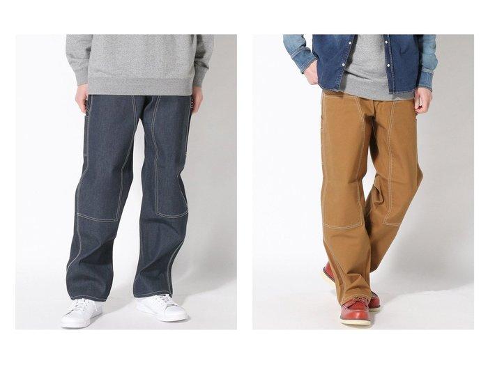 【WORLD WORKERS / MEN/ワールドワーカーズ】のワールドワーカーズ-ダブルニーパンツ 【MEN】おすすめ!人気トレンド・男性、メンズファッションの通販 おすすめファッション通販アイテム レディースファッション・服の通販 founy(ファニー) ファッション Fashion メンズファッション MEN ボトムス Bottoms/Men アウトドア ジーンズ ストレート ワイド |ID:crp329100000029003