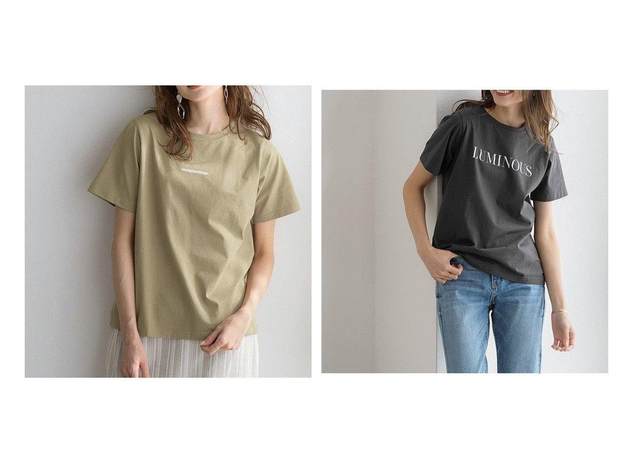 【Pierrot/ピエロ】のconscientiousシルケットロゴTシャツ&LUMINOUSシルケットロゴTシャツ 【プチプライス】おすすめ!人気トレンド・ファッション通販  おすすめで人気の流行・トレンド、ファッションの通販商品 メンズファッション・キッズファッション・インテリア・家具・レディースファッション・服の通販 founy(ファニー) https://founy.com/ ファッション Fashion レディースファッション WOMEN トップス・カットソー Tops/Tshirt シャツ/ブラウス Shirts/Blouses ロング / Tシャツ T-Shirts シルケット シンプル プチプライス・低価格 Affordable  ID:crp329100000029010