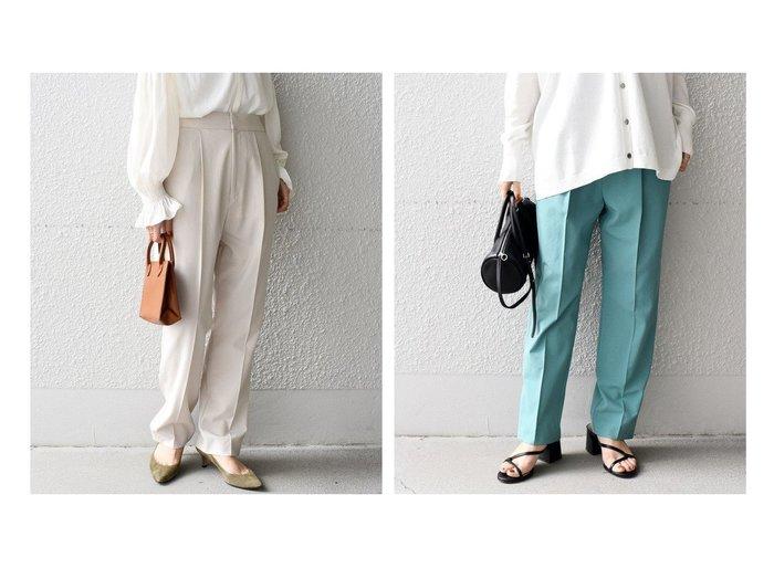 【SHIPS/シップス フォー ウィメン】のリサイクルポリエステルタックパンツ 【パンツ】おすすめ!人気、トレンド・レディースファッションの通販 おすすめファッション通販アイテム レディースファッション・服の通販 founy(ファニー) ファッション Fashion レディースファッション WOMEN パンツ Pants シンプル |ID:crp329100000029087