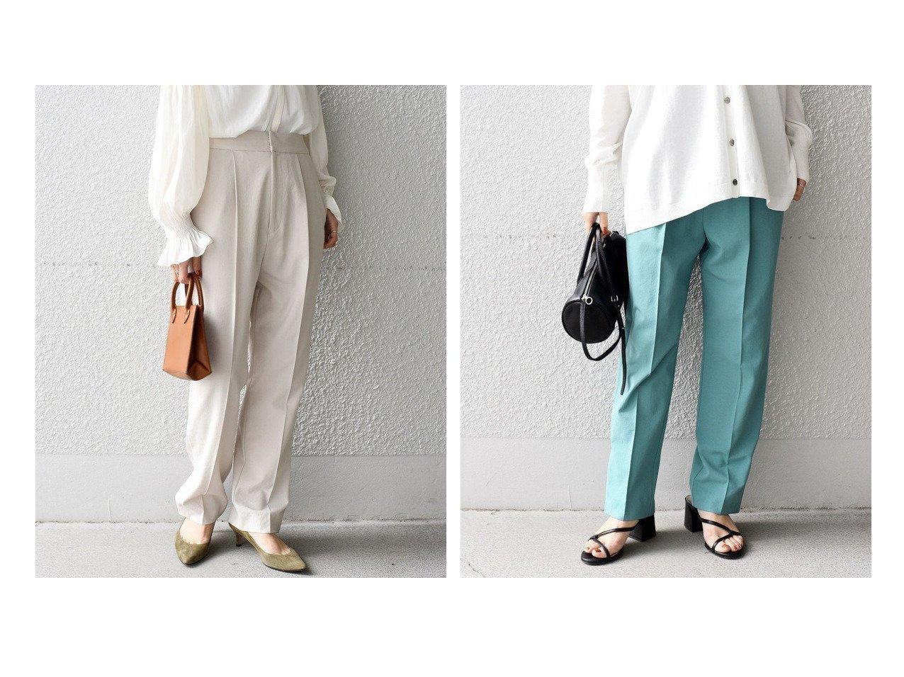 【SHIPS/シップス フォー ウィメン】のリサイクルポリエステルタックパンツ 【パンツ】おすすめ!人気、トレンド・レディースファッションの通販 おすすめで人気の流行・トレンド、ファッションの通販商品 メンズファッション・キッズファッション・インテリア・家具・レディースファッション・服の通販 founy(ファニー) https://founy.com/ ファッション Fashion レディースファッション WOMEN パンツ Pants シンプル  ID:crp329100000029087