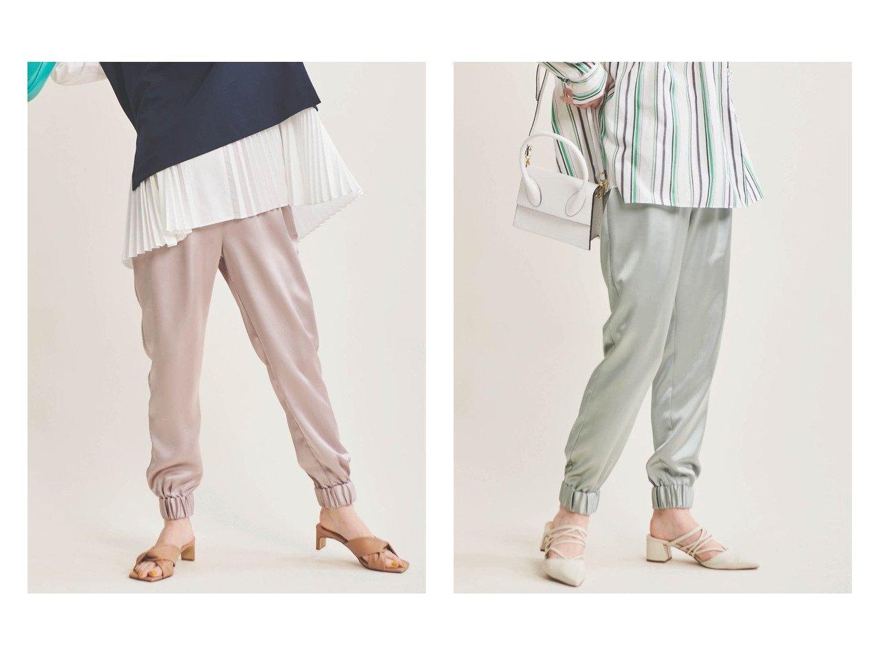 【The Virgnia/ザ ヴァージニア】のサテンジョガーパンツ 【パンツ】おすすめ!人気、トレンド・レディースファッションの通販 おすすめで人気の流行・トレンド、ファッションの通販商品 メンズファッション・キッズファッション・インテリア・家具・レディースファッション・服の通販 founy(ファニー) https://founy.com/ ファッション Fashion レディースファッション WOMEN パンツ Pants サテン ジーンズ トレンド ドレープ リラックス  ID:crp329100000029096