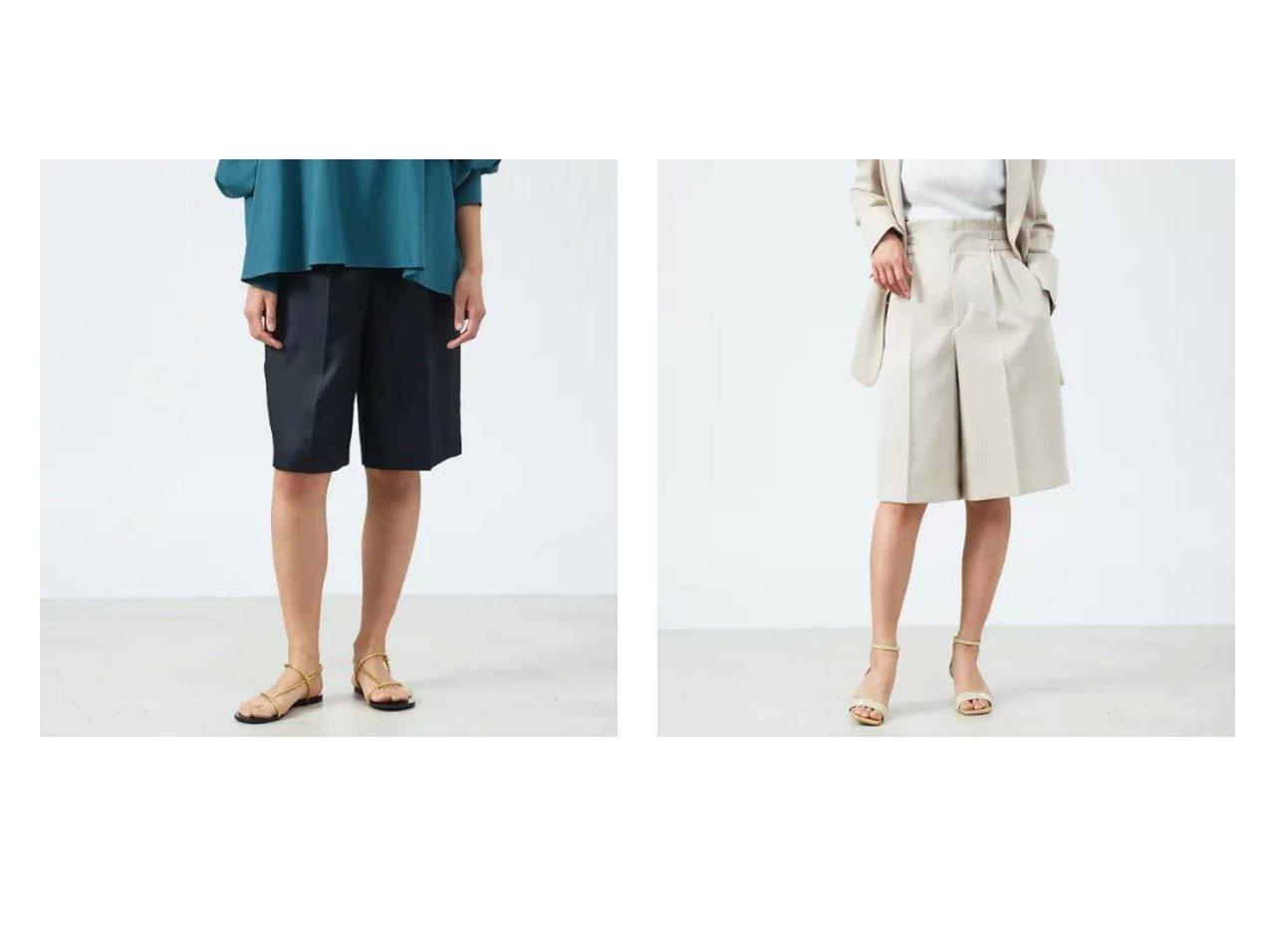 【qualite/カリテ】のウエストギャザーハーフパンツ 【パンツ】おすすめ!人気、トレンド・レディースファッションの通販 おすすめで人気の流行・トレンド、ファッションの通販商品 メンズファッション・キッズファッション・インテリア・家具・レディースファッション・服の通販 founy(ファニー) https://founy.com/ ファッション Fashion レディースファッション WOMEN パンツ Pants ハーフ / ショートパンツ Short Pants おすすめ Recommend キュロット シャーリング ショート セットアップ センター トレンド ハーフ ワイド |ID:crp329100000029109