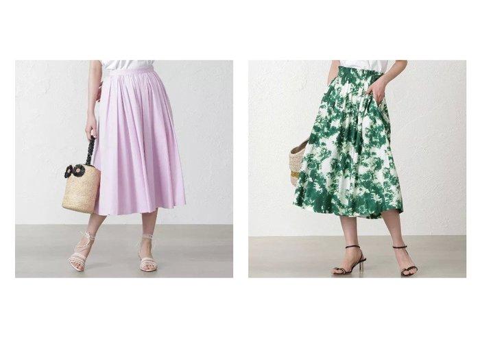 【EPOCA THE SHOP/エポカ ザ ショップ】の【MIHOKO SAITO】カラースカート&【MIHOKO SAITO】グリーンプリントスカート 【スカート】おすすめ!人気、トレンド・レディースファッションの通販 おすすめファッション通販アイテム レディースファッション・服の通販 founy(ファニー) ファッション Fashion レディースファッション WOMEN スカート Skirt ギャザー コレクション プリント マキシ モダン レース ロング おすすめ Recommend ストレッチ |ID:crp329100000029131