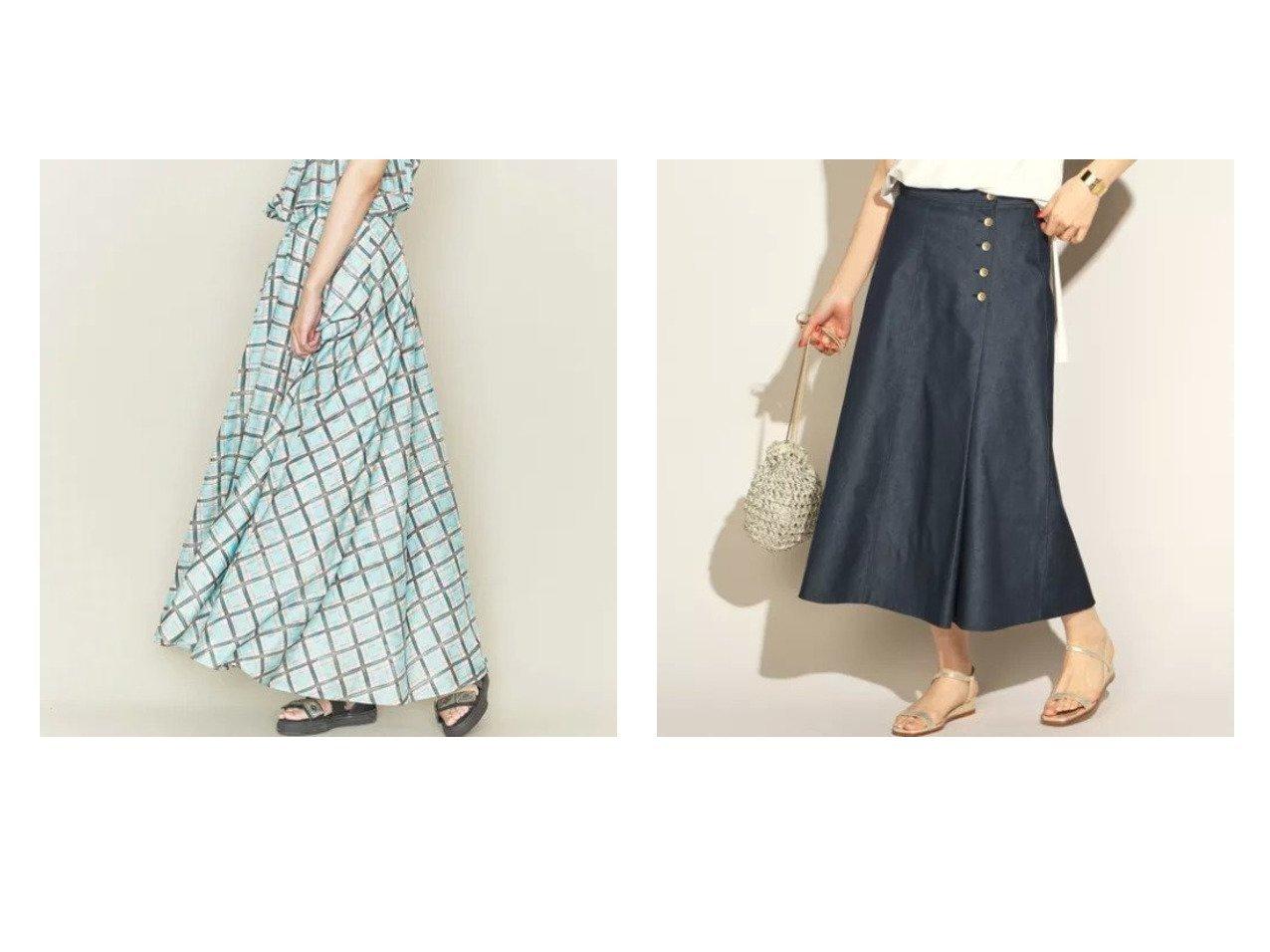 【NOLLEY'S/ノーリーズ】のデニムフレアスカート&【ASTRAET/アストラット】のチェックプリント フレアスカート† 【スカート】おすすめ!人気、トレンド・レディースファッションの通販 おすすめで人気の流行・トレンド、ファッションの通販商品 メンズファッション・キッズファッション・インテリア・家具・レディースファッション・服の通販 founy(ファニー) https://founy.com/ ファッション Fashion レディースファッション WOMEN スカート Skirt Aライン/フレアスカート Flared A-Line Skirts S/S・春夏 SS・Spring/Summer デニム フレア フロント 春 Spring おすすめ Recommend キャミソール シアー スニーカー チェック ドレープ プリント マキシ ロング |ID:crp329100000029136