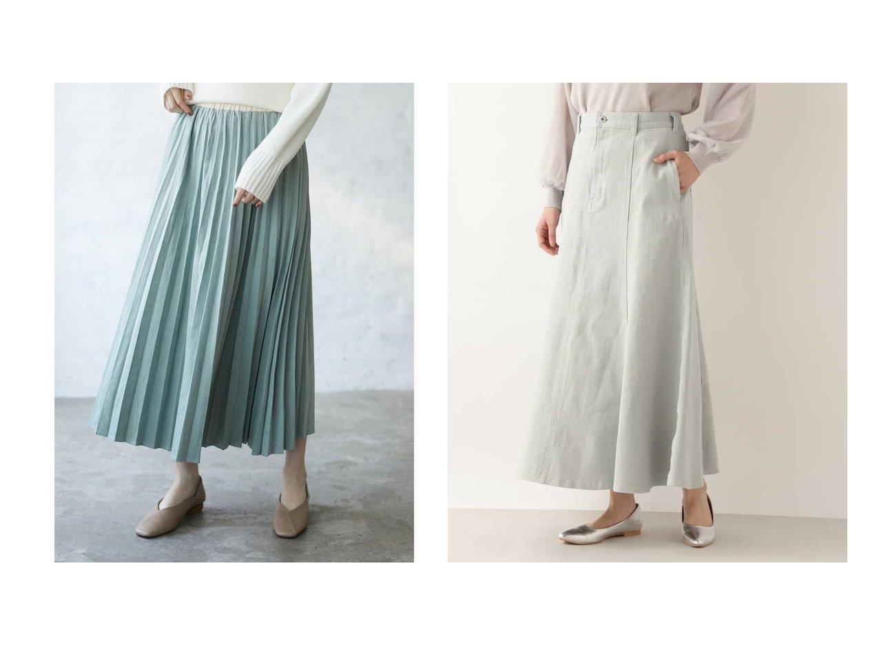 【Green Parks/グリーンパークス】の・ELENCARE DUEアコーディオンプリーツスカート&【NATURAL BEAUTY BASIC/ナチュラル ビューティー ベーシック】のカラーデニムスカート 【スカート】おすすめ!人気、トレンド・レディースファッションの通販 おすすめで人気の流行・トレンド、ファッションの通販商品 メンズファッション・キッズファッション・インテリア・家具・レディースファッション・服の通販 founy(ファニー) https://founy.com/ ファッション Fashion レディースファッション WOMEN スカート Skirt デニムスカート Denim Skirts プリーツスカート Pleated Skirts デニム フレア ポケット 春 Spring 送料無料 Free Shipping エレガント ギャザー クール プリーツ 再入荷 Restock/Back in Stock/Re Arrival  ID:crp329100000029149