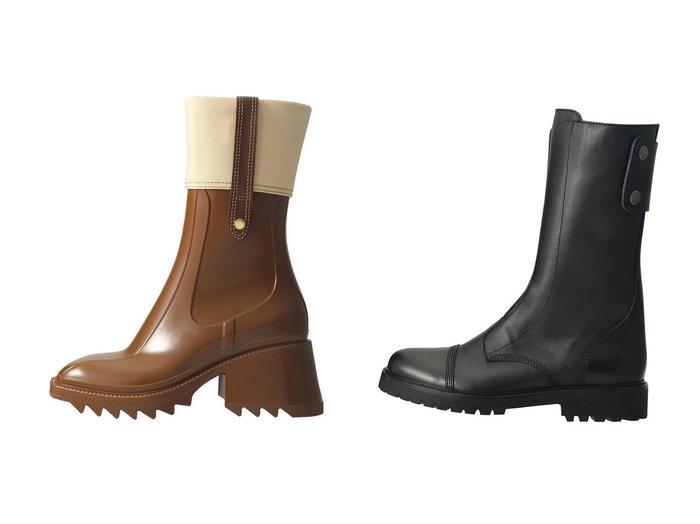 【ZADIG & VOLTAIRE/ザディグ エ ヴォルテール】のJOE HIGH SMOOTH CALFSKIN ショートブーツ&【CHLOE/クロエ】のBETTY レインブーツ 【シューズ・靴】おすすめ!人気、トレンド・レディースファッションの通販 おすすめ人気トレンドファッション通販アイテム 人気、トレンドファッション・服の通販 founy(ファニー) ファッション Fashion レディースファッション WOMEN ショート 人気 キャンバス スタッズ フィット |ID:crp329100000029164