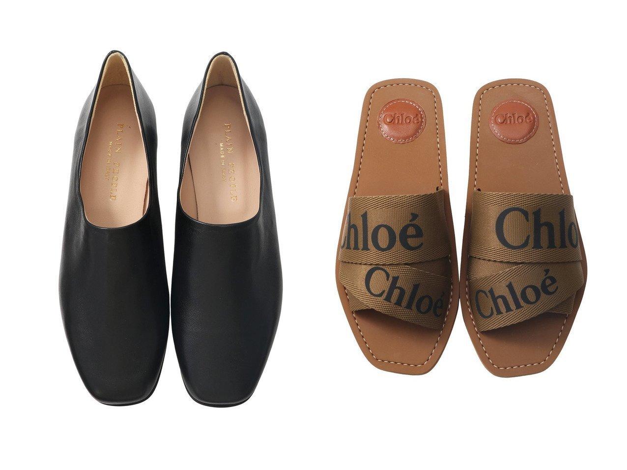 【PLAIN PEOPLE/プレインピープル】の【CORSO ROMA9】レザーフラットスリッポンシューズ&【CHLOE/クロエ】のWOODY ロゴフラットサンダル 【シューズ・靴】おすすめ!人気、トレンド・レディースファッションの通販 おすすめで人気の流行・トレンド、ファッションの通販商品 メンズファッション・キッズファッション・インテリア・家具・レディースファッション・服の通販 founy(ファニー) https://founy.com/ ファッション Fashion レディースファッション WOMEN S/S・春夏 SS・Spring/Summer サンダル フラット リゾート 春 Spring イタリア シューズ シンプル  ID:crp329100000029169