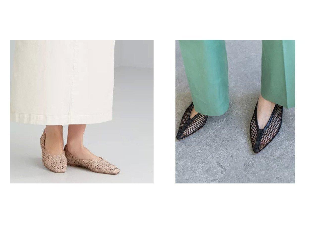 【GALLARDAGALANTE/ガリャルダガランテ】の【PELLICO】メッシュディープカットフラットシューズ&【green label relaxing / UNITED ARROWS/グリーンレーベル リラクシング / ユナイテッドアローズ】のFFC スクエア メッシュ フラット シューズ (1cmヒール) 【シューズ・靴】おすすめ!人気、トレンド・レディースファッションの通販 おすすめで人気の流行・トレンド、ファッションの通販商品 メンズファッション・キッズファッション・インテリア・家具・レディースファッション・服の通販 founy(ファニー) https://founy.com/ ファッション Fashion レディースファッション WOMEN イタリア エレガント シューズ スエード スマート ネイル パイピング フォルム メッシュ スクエア デニム フラット リラックス ロング  ID:crp329100000029171