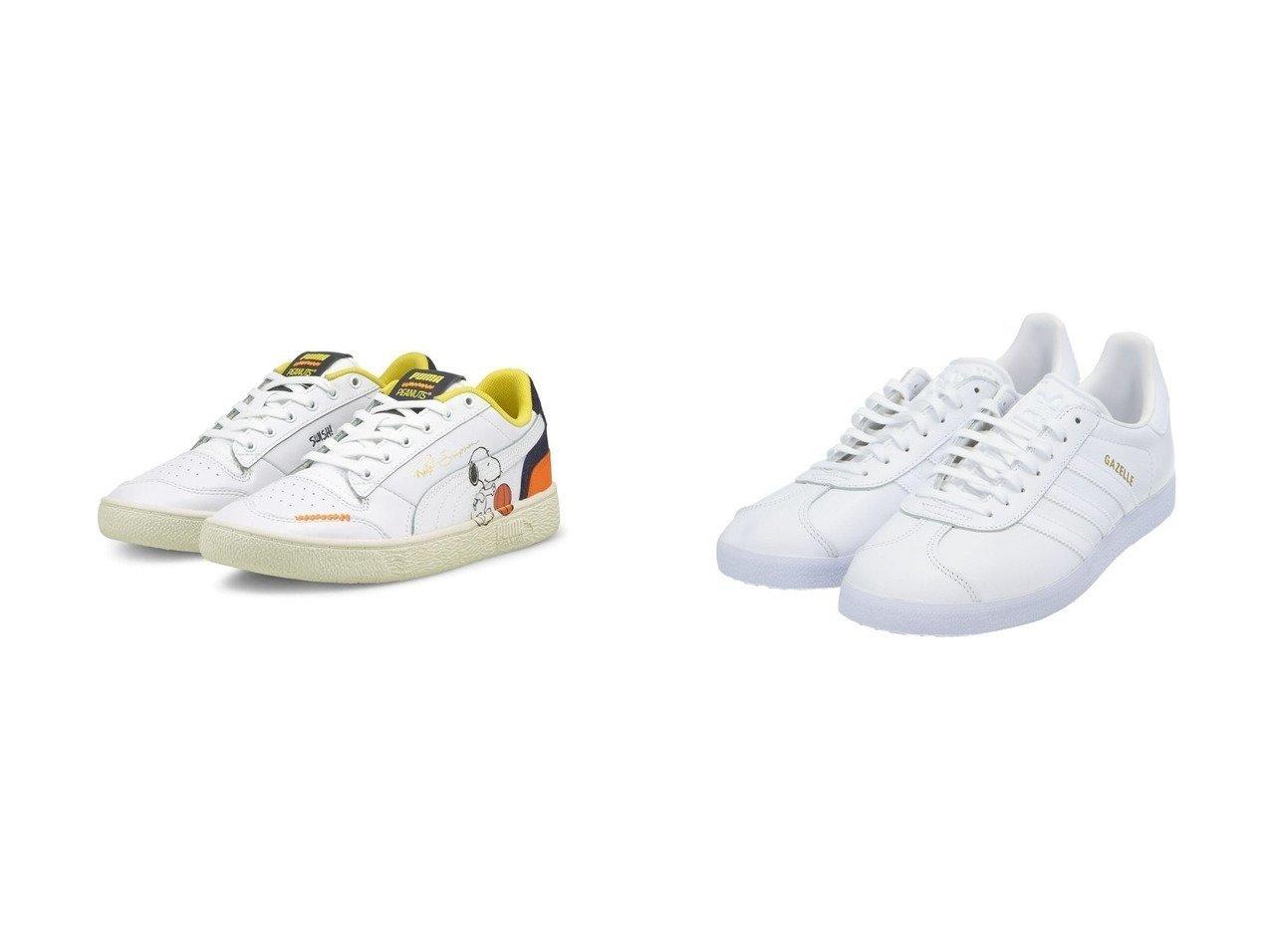 【adidas Originals/アディダス オリジナルス】のガゼル Gazelle アディダスオリジナルス&【PUMA/プーマ】のPUMA RALPH SAMPSON PEANUTS 【シューズ・靴】おすすめ!人気、トレンド・レディースファッションの通販 おすすめファッション通販アイテム インテリア・キッズ・メンズ・レディースファッション・服の通販 founy(ファニー)  ファッション Fashion レディースファッション WOMEN シューズ ストライプ スニーカー スポーツ スリッポン ミックス 人気 キャラクター クッション バスケット プリント NEW・新作・新着・新入荷 New Arrivals ホワイト系 White |ID:crp329100000029186