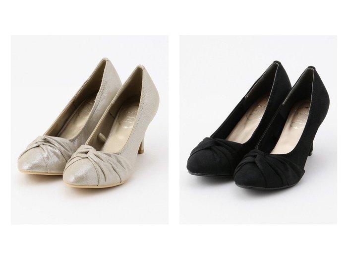 【any SiS/エニィ スィス】のクロスギャザー パンプス 【シューズ・靴】おすすめ!人気、トレンド・レディースファッションの通販 おすすめファッション通販アイテム レディースファッション・服の通販 founy(ファニー) ファッション Fashion レディースファッション WOMEN ギャザー シューズ ツイスト パーティ リボン |ID:crp329100000029194